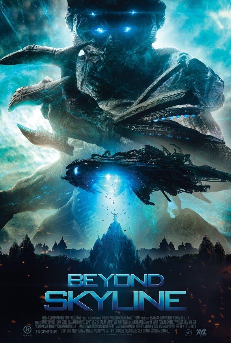 Beyond Skyline poster. Streaming science fiction films. Netflix sci fi movies.